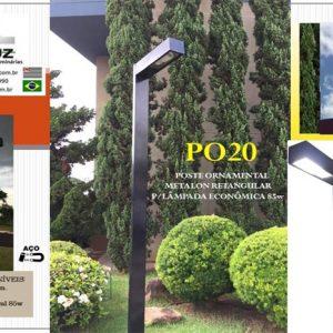 PO20 – Poste Ornamental Metalon Retangular